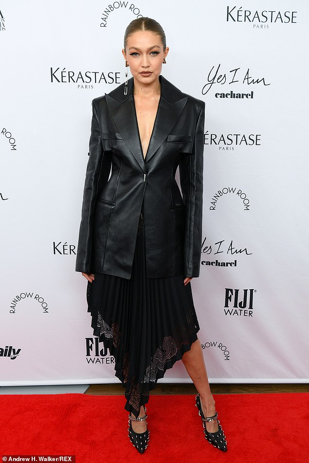 Gigi Hadid takes the plunge in sexy leather jacket at